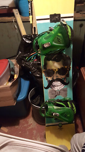 Solomon board with ride bindings and boots