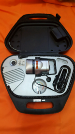 Challenge Tyre Inflater with gauge and Lantern in carrycase.
