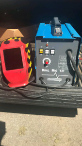 Chicago Electric Dual Mig welder with helmets