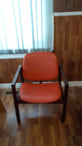 ANTIQUE -- WOODEN ROCKING CHAIR  + ARM CHAIR