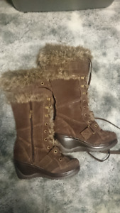 Women's Fur Lined Tall Boots