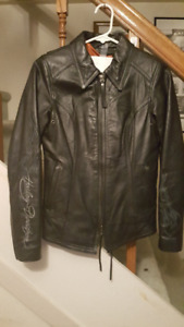 Women's XS Branded Harley Davidson Leather Biker Jacket