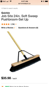 Shop push broom