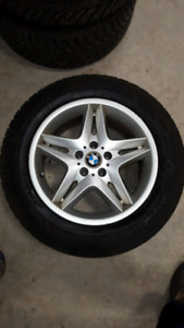 BMW aluminum rims 255/55r18 with Goodyear winter tires