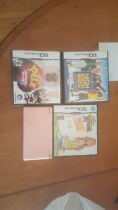 Nintendo ds lite pink with 3 games and charger $30