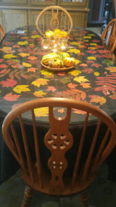 Beautiful maple dining table set