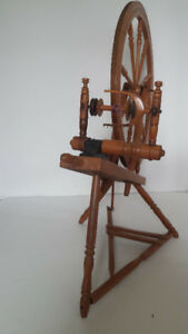 Antique Quebec Spinning Wheel