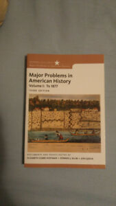 Major Problems American History (Volume 1: To 1877)