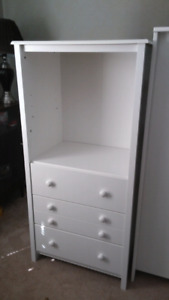 Nice White Shelving Unit with Drawers