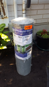 Garden Zone Wire Mesh roll, Galvanized Hardware Cloth 24inx 50ft