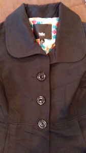 Blk Mossimo Spring/Fall Pleated Coat with Pockets $25 Belleville Belleville Area image 2