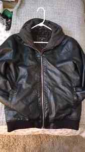 Large Men's Billabong Leather Jacket