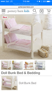 American girl / pottery barn kids bunk beds