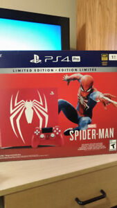 PS4 Pro Limited Edition Spiderman 1TB Bundle