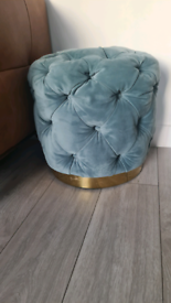 Chesterfield teal stool