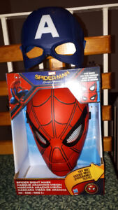 Spider Man and Captain America Masks