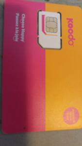 10.00 Koodo Sim Card