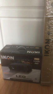 Ikon projector with 70ich screen
