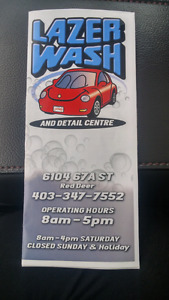 Car wash and detailing certificate