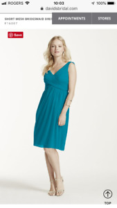 Oasis Green, Plus-sized Bridesmaid Dress with Cowl Back (BNWT)