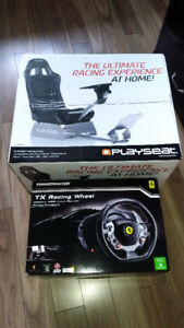 Thrust master steering wheel Xbox one with PlaySeat NEW