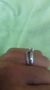 White Gold Wedding Band and Engagement Ring