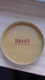 Bells Whisky laminate drinks tray.