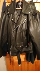 1950s style rockers bikers American patrol leather jacket