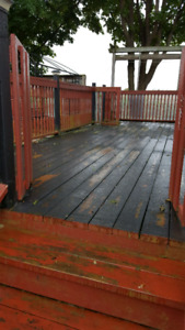 25ftx11ft deck for $100
