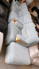 Immaculate G Plan 3 piece suite with footstool