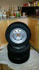 "4x100 13"" winter tires on rims"