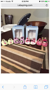 3 pair of Robeez Leather Shoes 0-6 Months