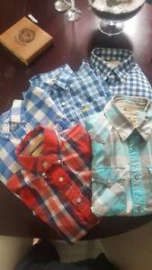 5 Hollister Shirts Medium