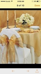 NICE CHAIR COVER,*TABLECLOTH,*BACKDROP* London Ontario image 4