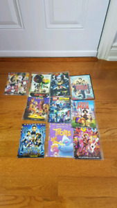 DVDs $2 each or $15 for all 10
