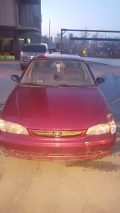2000 corolla-low kms-active