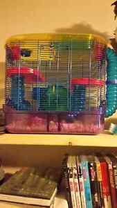 Two tier hamster/mice/rat/gerbil cage.