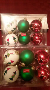 (2) boxes of Christmas Tree Ornaments by Holiday Home - New