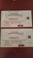 The weeknd tickets ROUGES SECTION 102