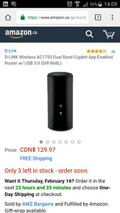 Dlink ac1750 wifi router