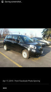 Black 2014 fiat 500l with only 16 500km 6 speed standard .