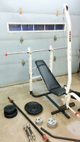 Bench press multi-fonction inclinable - déclinable  + 600 lbs