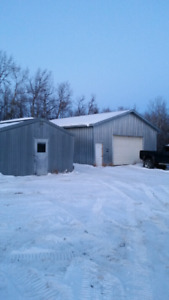 Out Buildings / Shops for Rent 10 min north of Spruce Grove
