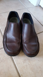 Mens Rockport brown leather loafers size 11