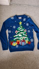 Lights up Christmas jumper