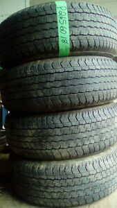 Four 265 60 18 all season tires 0r four 265 65 18 tires