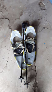 snow shoes and poles Peterborough Peterborough Area image 1