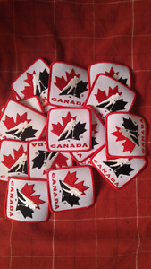 Team Canada hockey patches.