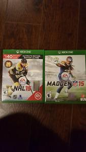 NHL 2015 Madden 2015 Xbox One