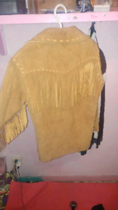 Genuine hand sewn soft Hide jacket. Unfinished. Traditional.